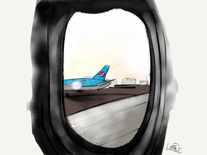 good bye Korea hello again USA iPad art HwanLee